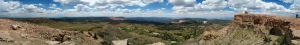 Panorama from the top of Brian Head, Utah. Summer 2014. Author's collection.