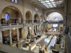 Main hall of the Egyptian Museum in Cairo.