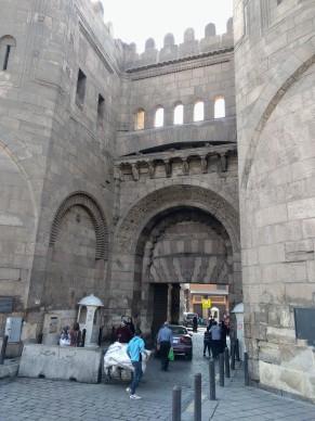 Al Bab al Nasr (the Gate of Victory) through the Fatimid Walls in Islamic Cairo.