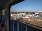 Looking roughly WNW towards West LA and the Santa Monica mountains from aboard the Expo line train at Culver City station at about 9 AM yesterday.